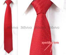 Dark Red Waves Sparkling Dot Men Neckwear 100% Woven Silk 8 cm Wedding Tie