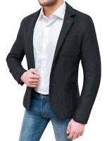 Giacca uomo Diamond invernale nero slim fit blazer cappotto elegante in lana