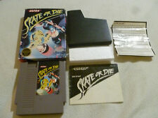 BOXED NINTENDO NES GAME VIDEO SKATE OR DIE COMPLETE W BOX & MANUAL CIB ULTRA >>
