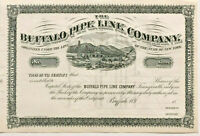 Buffalo Pipe Line Company > 1800s New York oil & gas pipeline stock certificate