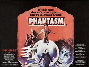 "PHANTASM 1979 repro UK cinema Quad poster 30x40"" Angus Scrimm Horror Tall Man"