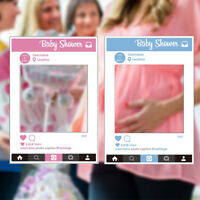Large Size Baby Shower Photo Booth Party Prop Insta Selfie Frame Photography Fun