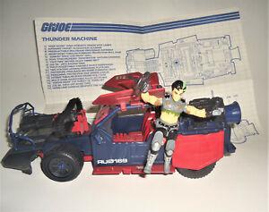 GI Joe Dreadnok Thunder Machine w Thrasher Figure 1986 98% complete blueprints