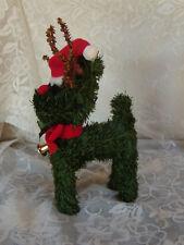 Vintage Pine Green Garland Reindeer with antlers Christmas Reindeer Figure