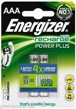 2 x Energizer AAA Micro Akku NiMH 700mAh PowerPlus Blister Ideal für MP3 Player