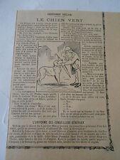 Humour Histoire Belge Le Chien Vert Image Print 1906