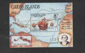 TURKS & CAICOS ISLANDS #891 THE NINA COLUMBUS MINT VF NH O.G S/S