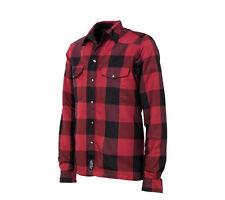 RKsports Motorcycle Lumberjack Kevlar Red Grey Shirt Men Ladies CE Armoured