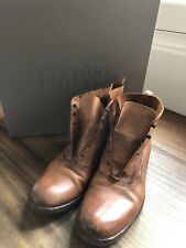 SARTORE Distressed Laceless Ankle Boots Leather 38 Barney's $900