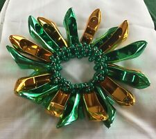 Krewe Of Muses Green Gold Hi-Heel Shoe Bracelet New Orleans Mardi Gras Carnival