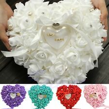 Wedding Rose Favors Heart Shaped Design Gift Ring Box Pillow Cushion Decoration