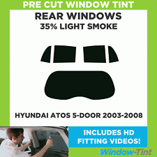 Pre Cut Window Tint - Hyundai Atos 5-door Hatchback 2003-2008 - 35% Light Rear