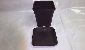 2L 6L 11L 18L 25L ATAMI WILMA SQUARE POT WITH OR WITHOUT SAUCER SOIL COCO HYDRO