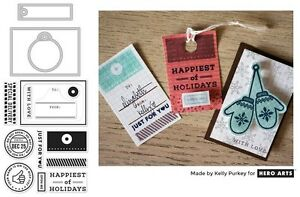 Hero Arts Christmas Gift Tag Stamps & Dies, Your Name is on the Nice List