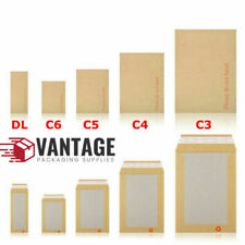 "Hard Board Backed Manilla Envelopes - A3 A4 A5 A6  ""Please Do Not Bend"""