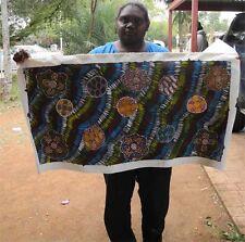 BUSH TUCKER-Australian Aboriginal Art by Famous Artist Bronwyn Butcher 106x55cm