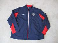 Reebok Florida Panthers Jacket Adult Large Blue Red Full Zip NHL Hockey Mens