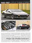 Lotus Esprit Turbo 1980 1982 1984  1985 1986 Review Report Print Article J834