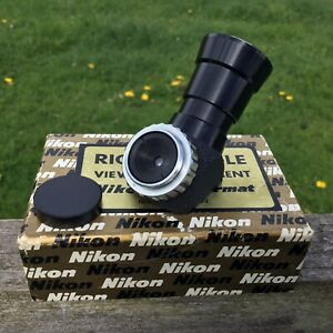 Vintage Nikon Nikkormat Right Angle Viewing Attachment Boxed Camera Accessories