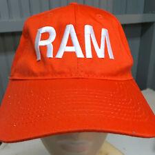 Dodge Ram Pickup Truck Orange Adjustable Baseball Cap Hat