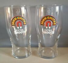 2 X New Genuine John Smiths Extra Smooth pint glasses with free postage.