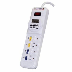 "Coralife Digital Power Center Day Night Timer White 10.75"" x 3"" x 1.75"""