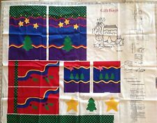 V.I.P DREAMSPINNERS Fabric Panel***Makes 3 Holiday Gift Bags with Tags & Ties