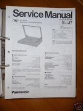 MANUAL DE SERVICIO Panasonic sl-j7 Tocadiscos, original