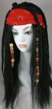 Pirates Costume Wig, Dreadlock w/Bandana & Beads