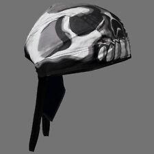 SKULL HEAD BIKER HEAD WRAP  CAP
