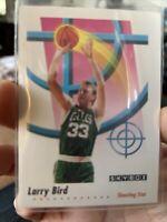 Larry Bird 1992 Skybox #591 Boston Celtics Shooting Star Basketball Card