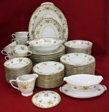 SANGO china REGAL Gold pattern 87 piece SET SERVICE for 12 including SERVING