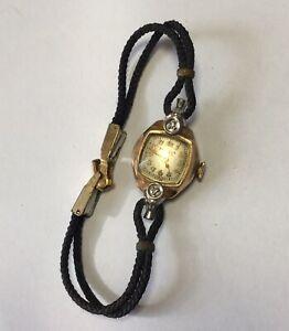 Women's Bulova 10 K Gold Filled Wrist Watch For Refurbishment Or Parts