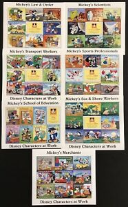 ST VINCENT DISNEY CHARACTERS AT WORK STAMPS SHEETS 1996 MNH SPORTS LAW & ORDER