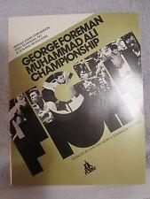 MUHAMMAD ALI V.S. GEORGE FOREMAN ORIGINAL FIGHT PROGRAM. MINT PRISTINE NEW