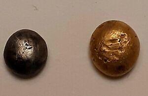 lot de 2 statères globulaires gaulois hémistatère or  , quart de statère argent