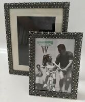 SET of 2! Weston Gallery Home 5x7 & 8x10 Picture Frame- Silver Pewter Rhinestone