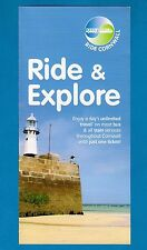 Bus Rail Information Leaflet ~ Ride Cornwall: Unlimited Travel Day Ticket: 2009