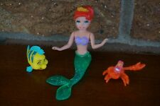 FIGURES Polly Pocket Princess Ariel Sebastian Flounder Little Mermaid Mini Doll