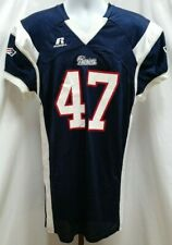NEW NWT Russell Athletic New England Patriots Blue #47 Fitted Jersey Size L C469