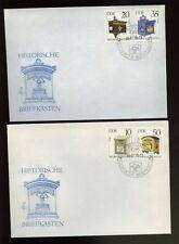 DDR 1985 Letter Boxes FDC Set
