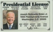 President Elect Joe Biden fake I.D card Drivers License