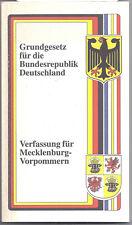 Grundgesetz Bundesrepublik Deutschland Verfassung Mecklenburg-Vorpommern 1995