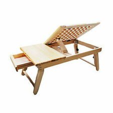 Wooden Folding Laptop Notebook Table Desktop Stand Sofa Bed Home Office Tray top