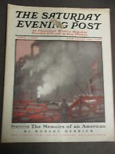 Vintage Saturday Evening Post  April 1, 1905  F.B Masters cover art