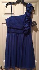 Ellen Tracy Women's Sz 10 Designer Blue Formal Dress Prom Homecoming Bridesmaid