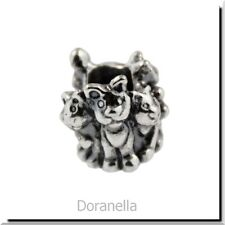 Authentic Trollbeads Sterling Silver 11354 Family of Kittens :0