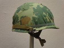 Us Army M1 Helmet w/ Mitchell Camo cover (Vietnam era) airborne liner