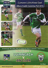 GAA 2015 Limerick v Clare - Allianz Football League Programme
