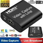 HDMI to USB Full HD Capture Card Digtal Video Game Recorder for Live Streaming